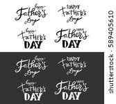 happy father's day.modern hand... | Shutterstock .eps vector #589405610