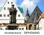 monument of martin luther on... | Shutterstock . vector #589406840
