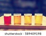 beer tasting. diferent beer in...   Shutterstock . vector #589409198