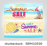 summer sale banners on isolated ... | Shutterstock .eps vector #589410530