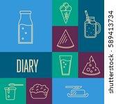assortment of different dairy... | Shutterstock .eps vector #589413734