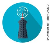 tower transmission icon   Shutterstock .eps vector #589429310