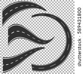winding curved road or highway...   Shutterstock .eps vector #589431800