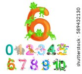 ordinal numbers six for... | Shutterstock .eps vector #589432130