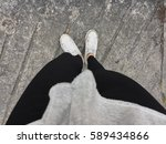 young fashion woman's legs with ... | Shutterstock . vector #589434866