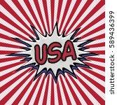 declaration of usa pop art ... | Shutterstock .eps vector #589436399