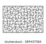 vector maze   labyrinth with... | Shutterstock .eps vector #589437584