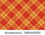 orange plaid tartan seamless... | Shutterstock . vector #589443050
