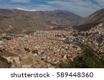Small photo of Aerial View Of Amasya, Turkey. Amasya is a city in northern Turkey and is the capital of Amasya Province, in the Black Sea Region. The city of Amasya, the Amaseia or Amasia