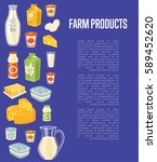 farm products banner with... | Shutterstock .eps vector #589452620