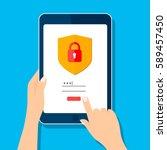 data protection internet... | Shutterstock .eps vector #589457450