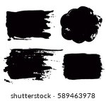 grunge paint vector. painted... | Shutterstock .eps vector #589463978