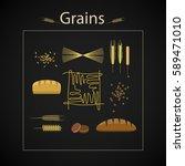 raster healthy grain food icon... | Shutterstock . vector #589471010