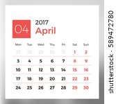 Calendar Template For April...
