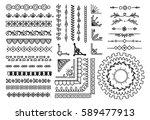 set of border  brush  frame ... | Shutterstock . vector #589477913