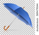 high detailed blue umbrella on...