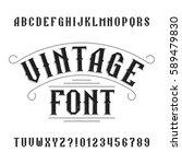 vintage alphabet. retro... | Shutterstock .eps vector #589479830