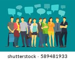 community many ordinary people... | Shutterstock . vector #589481933