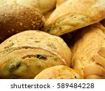 variety of bread rolls closeup | Shutterstock . vector #589484228