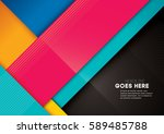 vector of modern colorful... | Shutterstock .eps vector #589485788