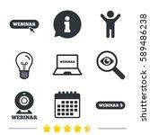 webinar icons. web camera and... | Shutterstock . vector #589486238