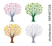 collection of for seasonal... | Shutterstock .eps vector #589487228