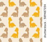 dino vector pattern | Shutterstock .eps vector #589487354