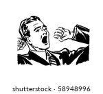 yawning and stretching   retro...   Shutterstock .eps vector #58948996