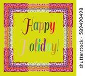 abstract zentangle inspired art ... | Shutterstock .eps vector #589490498