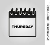 thursday icon. thu and calendar ...