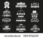 isolated grandfathers quotes on ... | Shutterstock .eps vector #589496039
