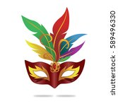 isolated carnival mask with... | Shutterstock .eps vector #589496330