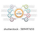infographic template with eight ... | Shutterstock .eps vector #589497653
