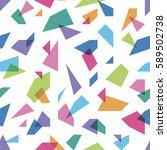 color splinters seamless pattern | Shutterstock .eps vector #589502738
