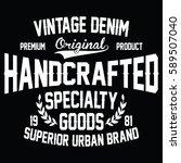 vintage denim  superior urban... | Shutterstock .eps vector #589507040
