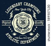 new york city college league ... | Shutterstock .eps vector #589507130