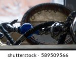 big hookah glass ceramic parts...   Shutterstock . vector #589509566