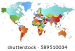 world map countries vector on... | Shutterstock .eps vector #589510034