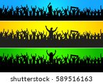 the crowd at the party  | Shutterstock .eps vector #589516163