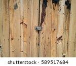 old wood doors and key lock | Shutterstock . vector #589517684