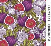 fig fruit vintage seamless...   Shutterstock .eps vector #589517954