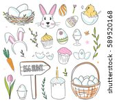 Cute Vector Easter Doodles...