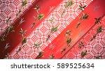 floral background 3d... | Shutterstock . vector #589525634
