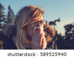 seasonal allergies and health... | Shutterstock . vector #589525940