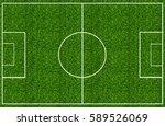 soccer field green grass | Shutterstock . vector #589526069