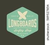 surfing logo. vintage outdoor... | Shutterstock .eps vector #589527854