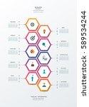 vector infographics timeline... | Shutterstock .eps vector #589534244