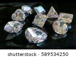 all shapes and cuts of diamonds ... | Shutterstock . vector #589534250