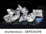 all shapes and cuts of diamonds ... | Shutterstock . vector #589534298