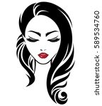 illustration of women long hair ... | Shutterstock .eps vector #589534760